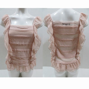 Romeo & Juliet Couture top Small Lace Ruffle